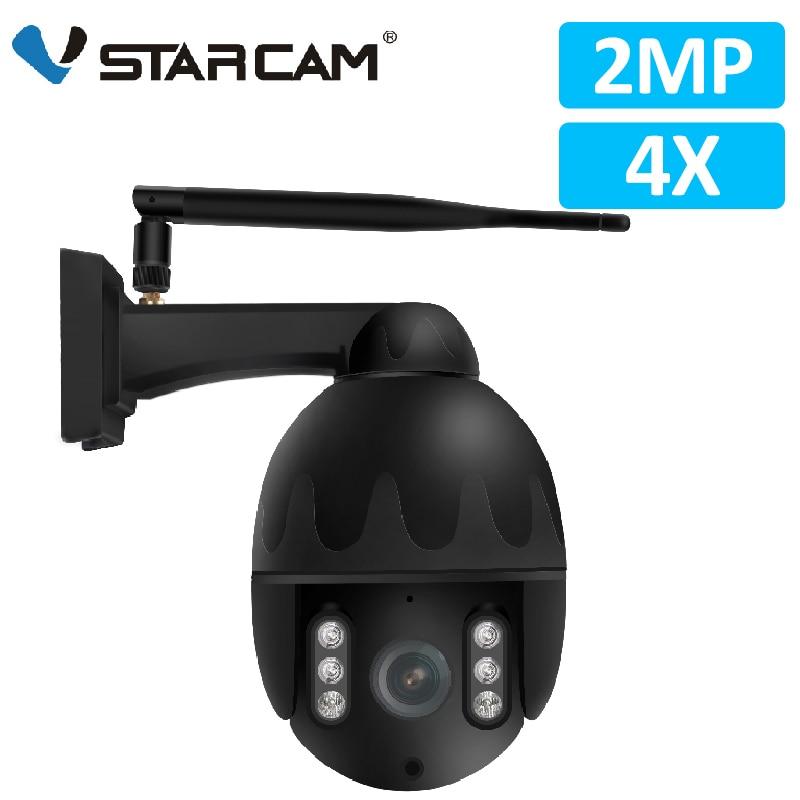 Vstarcam 1080P 4X IP66 Câmera IP Zoom Wi-fi Ao Ar Livre IR À Prova D' Água Visão PTZ Speed Dome Câmera de CCTV Segurança Vigilância PTZ Cam