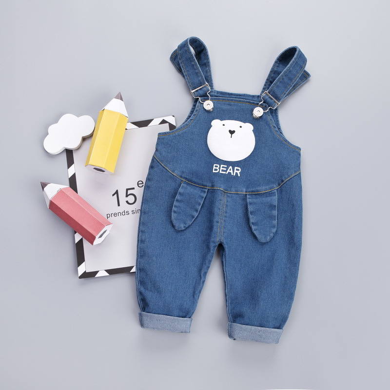 Baby Boys Girls Denim Overalls Spring Autumn Newborn Cute Fashion Bib Pants For Bebe Boys Toddler Jumpsuits Clothes Infant 1 2Y