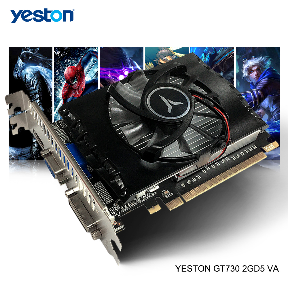 Yeston GeForce GT 730 GPU 2GB GDDR5 64 Bit Gaming Desktop Computer PC Video Graphics Cards Support HDMI/VGA/DVI-D