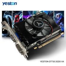 Yeston GeForce GT 730 GPU 2GB GDDR5 64 poco Gaming Desktop computadora PC Video Graphics Cards apoyo HDMI-compatible/VGA/DVI-D