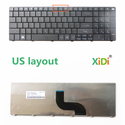 NOVO Teclado EUA para Gateway NE56 NV50 NV51B NV53 NV73A NV59C NV78 Teclado Do Laptop