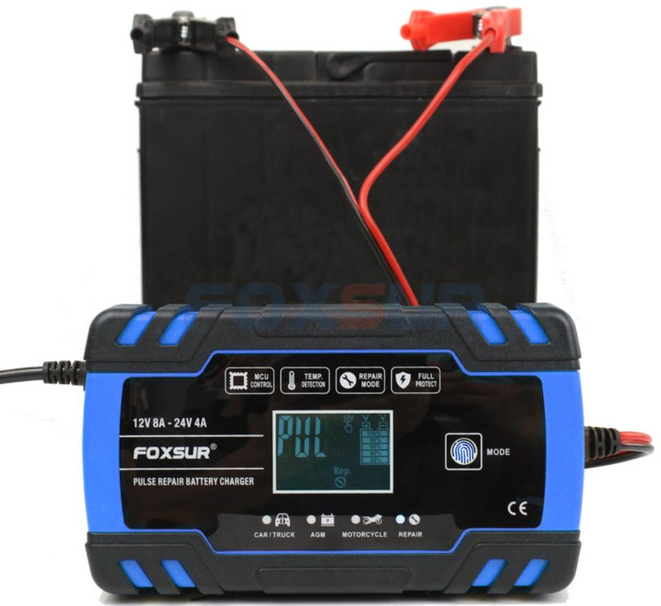 molhado chumbo ácido carregador de bateria display lcd
