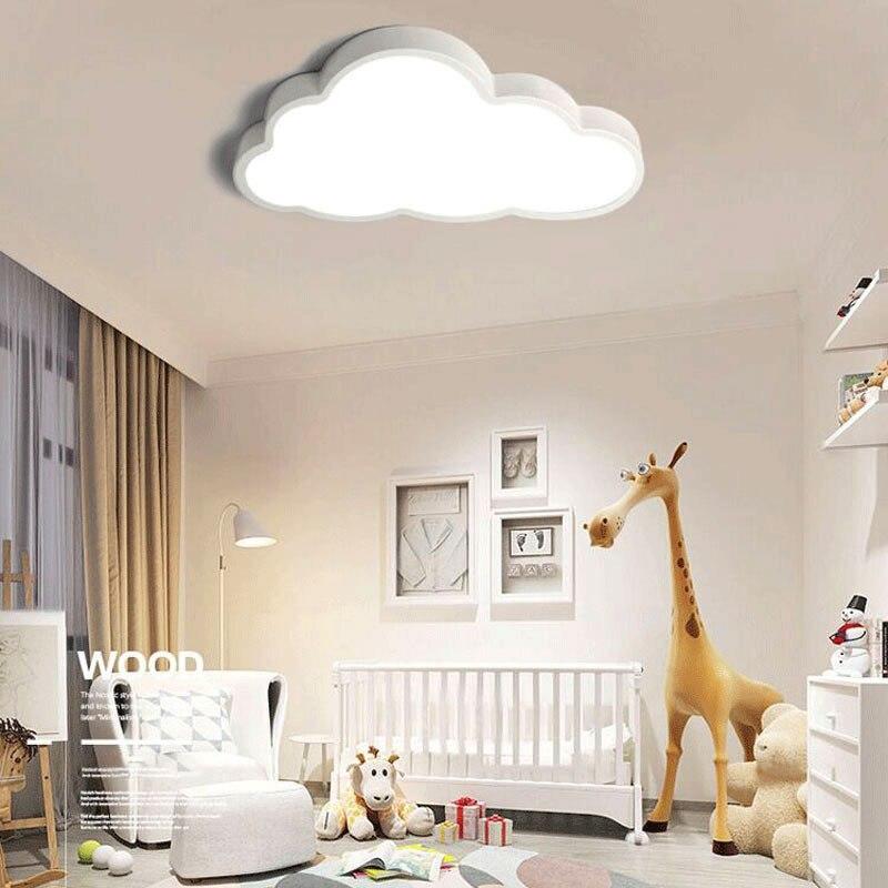 36W 48W LED Cloud Ceiling Lights Iron Lampshade Fixture Ceiling Lamp Children Baby Kids Bedroom Lighting Fixtures 50x28 Cm