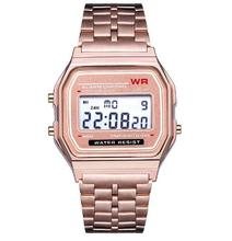 Women Men Unisex Watch Gold Silver Vintage Stainless Steel LED Sports Military Watches Electronic Digital Watches reloj mujer