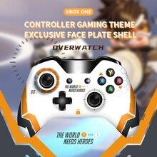 1個xboxのための限定版のフロントシェル光沢のあるトップ前面プレートmod部品xbox oneコントローラ overwatch