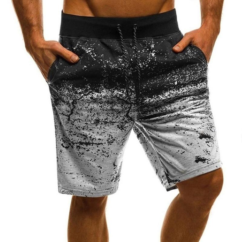 Summer Mens Print Board Shorts Quick Dry Men Board Shorts Beach Shorts Male Shorts With Pocket Casual Drawstring Shorts For Male