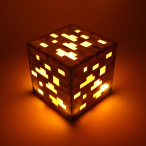 Image 3 - 2019 Hot Game Light Up Redstone Ore Square Toy Night light LED Action Toy Figure Light Up Diamond Ore Kids Gifts Toys