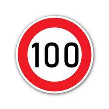 A-0077# Печатный самоклеющийся наклейки на авто Ограничение скорости (100 км) , Ø 16 см водонепроницаемые наклейки на машину стикер этикеты наклей...