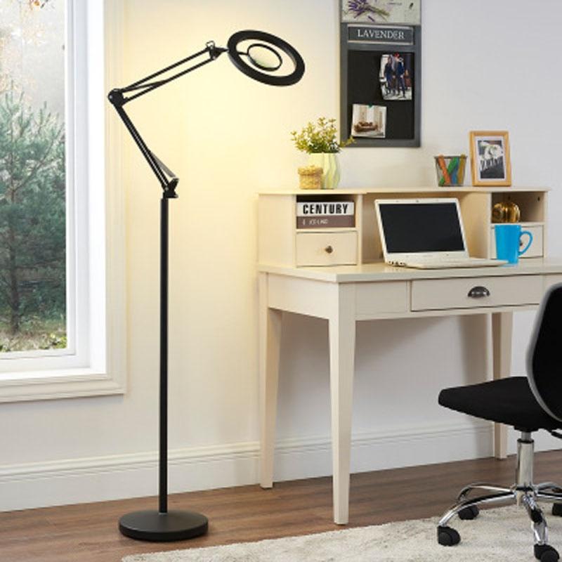 8X LED bianco freddo luce di bellezza del tatuaggio di bellezza del ciglio del tatuaggio lampada da terra soggiorno camera da letto lampada da tavolo protezione degli occhi verticale - 6