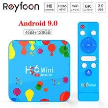H96 מיני אנדרואיד 9.0 הטלוויזיה Box Allwinner H6 6K H.265 USD3.0 כפולה Wifi HDR תמיכה Google נגן Youtube סט למעלה תיבת 4GB 32GB 128GB