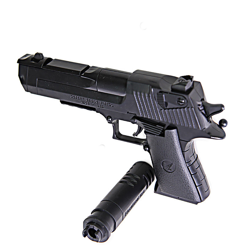 DIY Building Blocks Toys Weapon Desert Eagle And BERETTA Revolver Wtih Bullet Plastic Pistol Model For Children's Boys