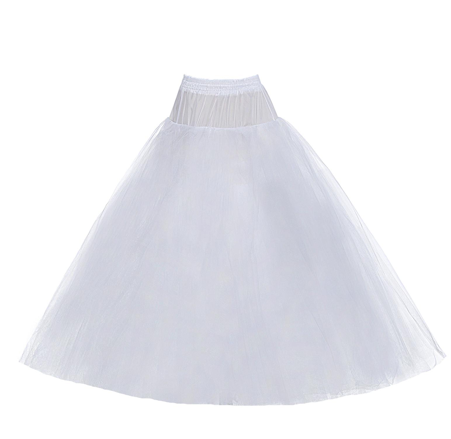 Ball Gown Style 8 Layer Tulle Hoopless White Petticoat Wedding Gown Crinoline Petticoat Skirt Slip Free Shipping