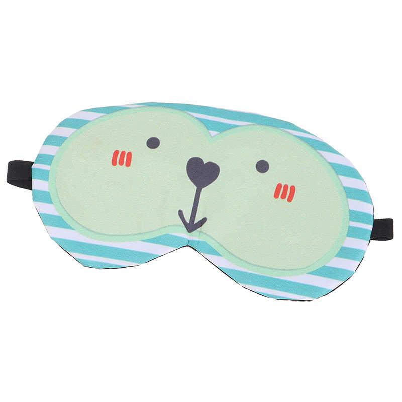 2020 sevimli kedi karikatür yumuşak göz uyku yardım maskesi rahat buz kompres jel seyahat dinlenme göz bandı kapak körü körüne