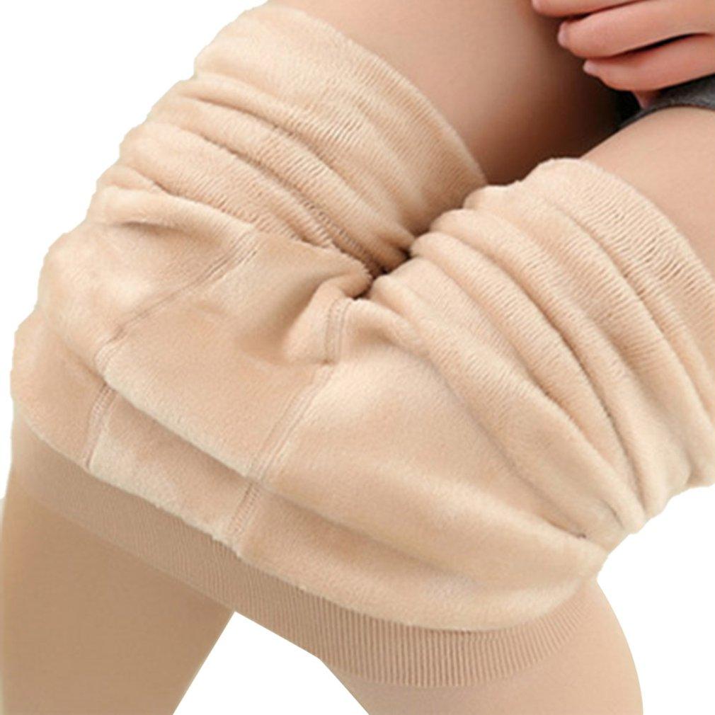 Women's Plus Velvet Thickening Leggings Pearl Velvet One-piece Pants Wearing  Warm Pants Solid Color Hot
