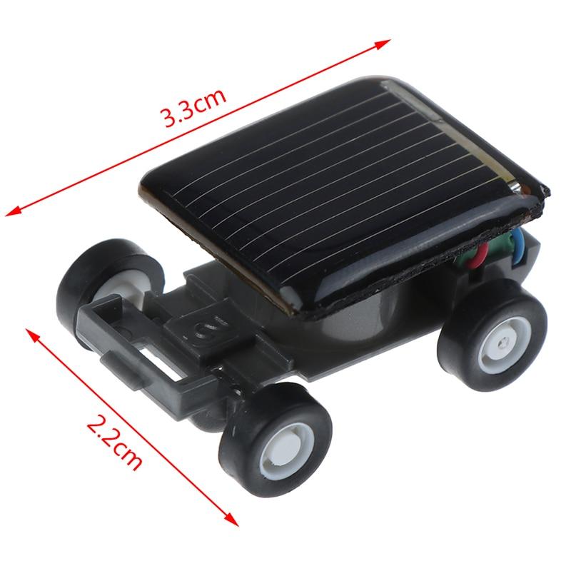 Mini Solar Car Gadget Smallest Solar Power Toy Car Racer Educational Solar Powered Toy Energia Solar Kids Toys Cricket