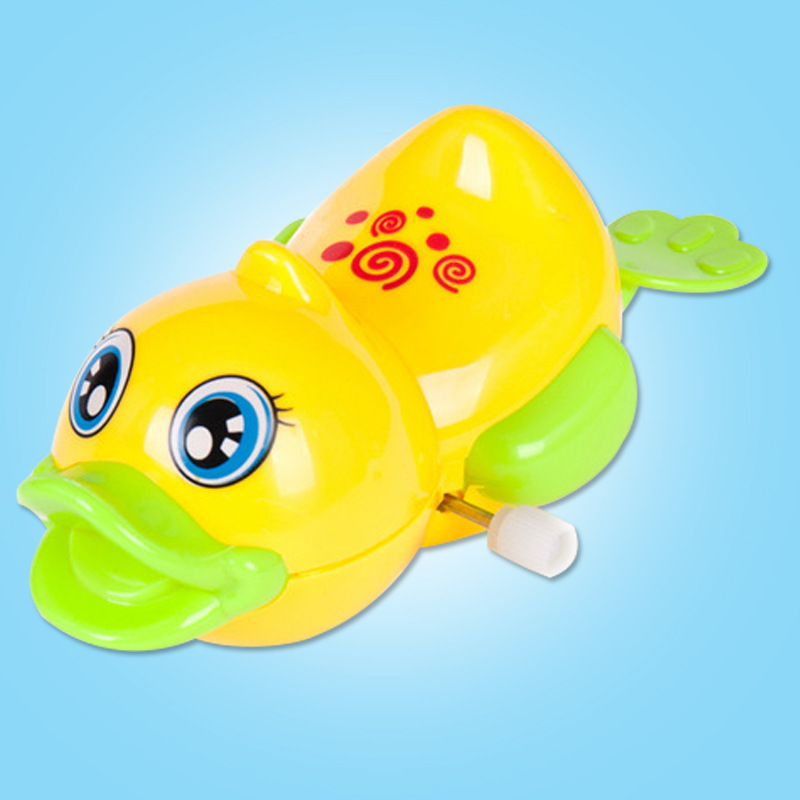 Children Stall Hot Selling Winding Wind-up Toy Summer Spring Play With Water Duck Toy Wholesale