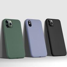 Original Liquid Silicone LOGO Case For iPhone
