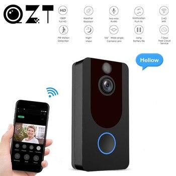 цена на QZT Wireless Smart Doorbell Camera Night Vision Intercom Ring Video Doorbell Camera Wifi Smart Home Door Bell with Camera 1080P