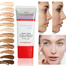 PHOERA 30ml Matte Liquid Foundation Waterproof Makeup Full Coverage Cream Long Lasting Face Base Concealer Cosmetics