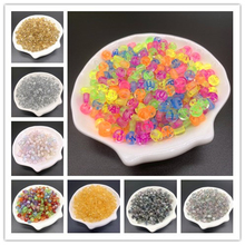 100pcs 7mm Letter Beads Colorful Mix Oval Shape 26 Alphabet Charms DIY Beads For Bracelet Necklace Jewelry Making