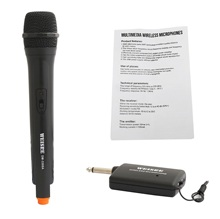 Hot-sale!Fixed Frequency VHF Wireless Handheld Microphone for Karaoke,Wedding,Church to Have Fun Over Mixer,PA System,Speaker