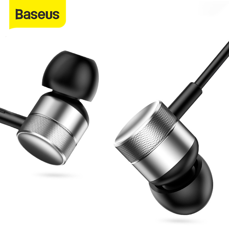 Baseus H04 Bass Sound Earphone In Ear Sport Earphones with mic for xiaomi iPhone Samsung Headset fone de ouvido auriculares MP3|sport earphone|earphone with micsports earphones with mic - AliExpress
