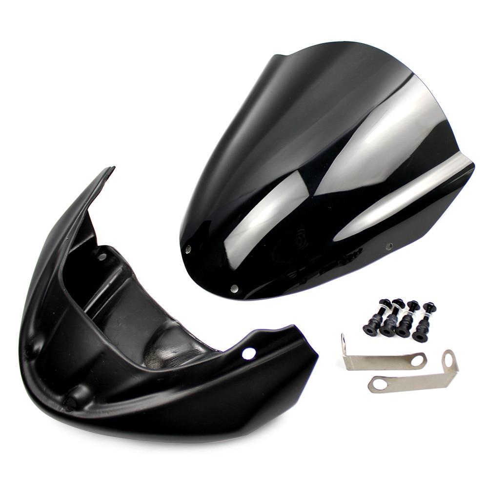 Windscreen w// Upper Fairing Front Cover for Yamaha FZ09  MT09 2014 2015 2016