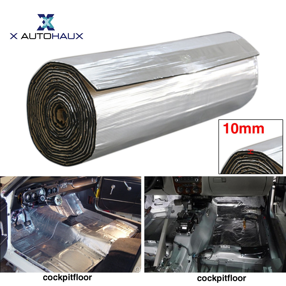 X AUTOHAUX 6mm/10mm Thick Alumina Fiber Muffler Cotton Car Sound Deadener Heat Insulation Mat Road Noise Dampener Thermal Mat