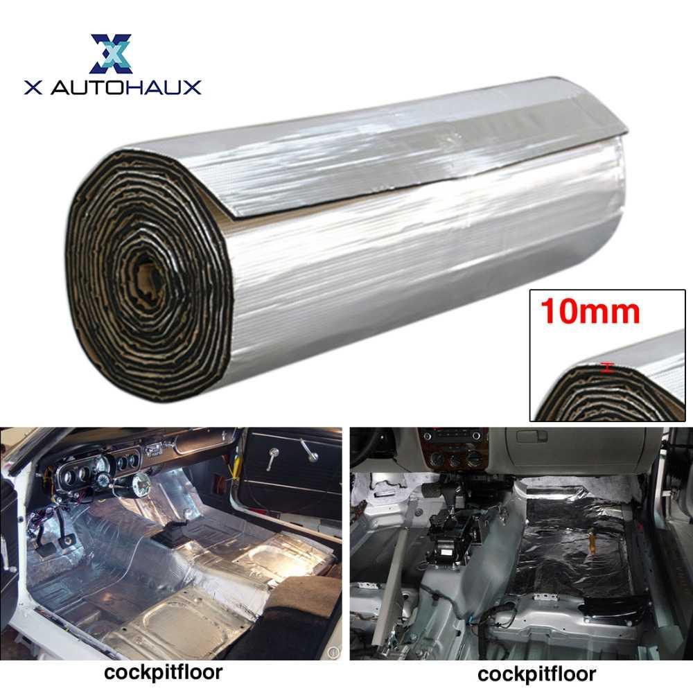 X Autohaux 6 Mm/10 Mm Nhôm Sợi Nhét Bông Xe Âm Thanh Deadener Cách Nhiệt Thảm Đường Tiếng Ồn máy Tạo Nhiệt Thảm