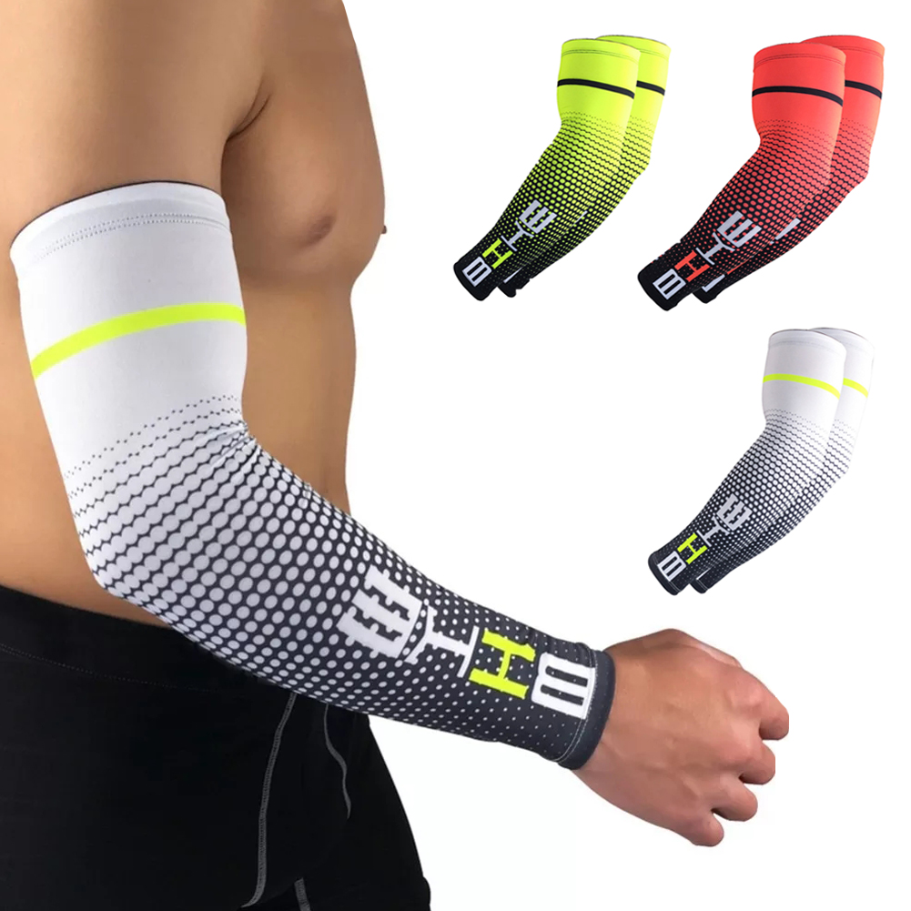 Men 1Pair CoolSun Protection Cuff Cover Cycling Fishing Drive Running UV  Protective Arm Sleeve Bike Sport Arm Warmers Sleeves
