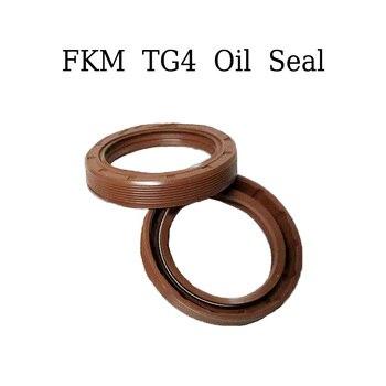 Esqueleto tres labios marrón FKM sellos de aceite de goma alta temperatura FKM juntas de goma de flúor ID 55mm