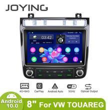 """Yeni ürün 8 """"kafa ünitesi Android 10 otomatik araba radyo Stereo Volkswagen VW Touareg için multimedya Carplay kaset teyp"""