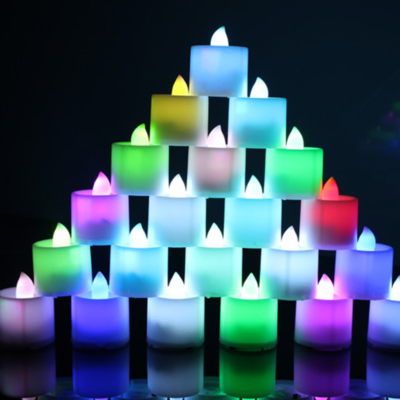 7 Color LED Changing Electronic Flameless Candle Lamp Home Party Decor HUG-Deals