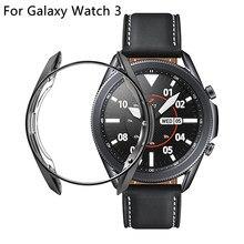 Coque de protection d'écran en TPU souple, antichoc, pour Samsung Galaxy Watch 3 45mm 41mm R840 R850, accessoires