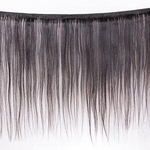 """Image 2 - شعر موكا 100% غير معالج 10A شعر عذراء برازيلي شعر طبيعي مفرود 8 """" 26"""" 4 حزمة تمديد الشعر اللون الطبيعي"""