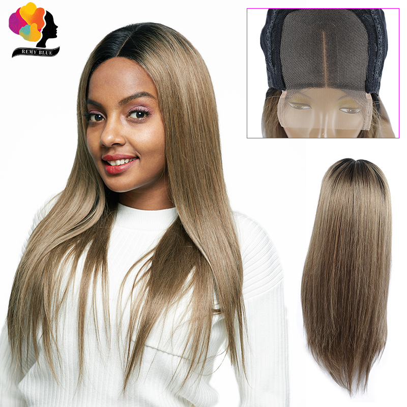Remyblue Blonde Straight Lace Front Human Hair Wigs Pre Plucked 1B/126 Ombre Peruvian Remy Human Hair Lace Wigs For Black Women