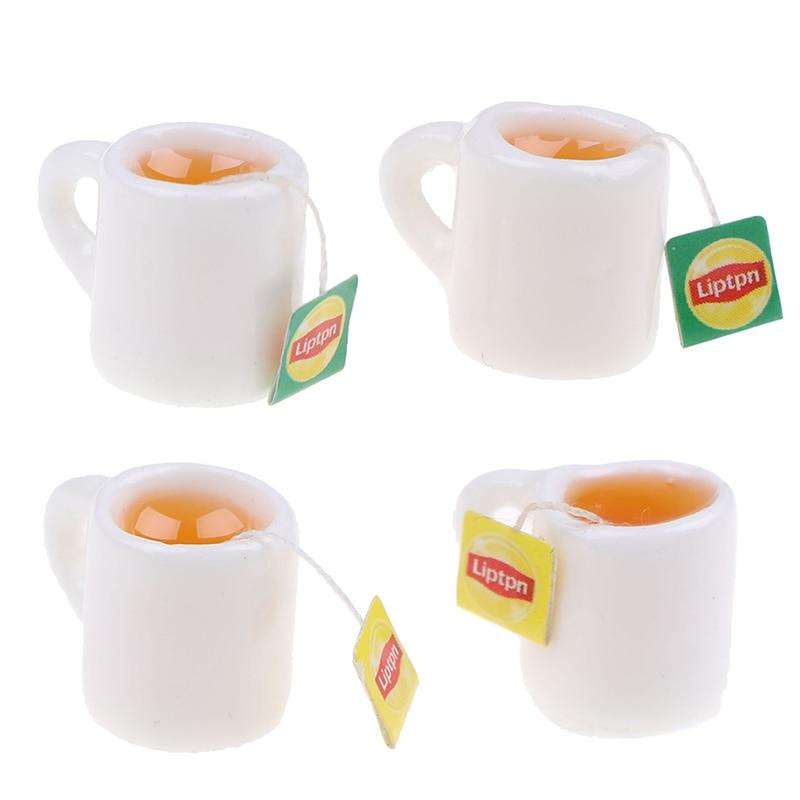 2Pcs/lot Mini Miniature Dollhouse Coffee Cup Kitchen Room Food Drink Home Tableware Decors Dolls Accessories