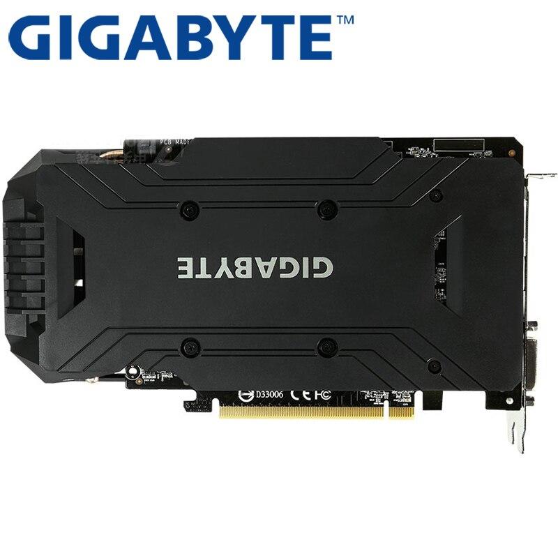 Видеокарта GIGABYTE GTX 1060, 3 ГБ, 192 бит, GDDR5, оригинальные б/у видеокарты для nVIDIA, видеокарты Geforce GTX 1050 Ti HDMI 750 960-2