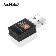 Kebidu bezprzewodowy adapter usb wifi dwuzakresowy 2.4 i 5.8Ghz 802.11ac 600 mb/s wi-fi antena PC karta sieciowa usb Lan Ethernet odbiornik