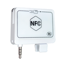 OEM NFC Track1/2 Mobile Magnetic Card Reader With 3.5mm Audio Jack And USB ACR35