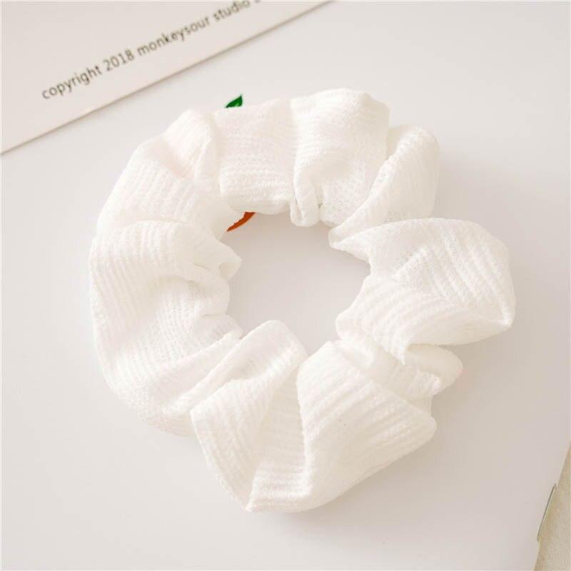 Корейский женский ободок для волос для девочек, полосатые женские резинки для волос, конский хвост, Женский держатель, веревка с ананасовым принтом, аксессуары для волос - Цвет: s1