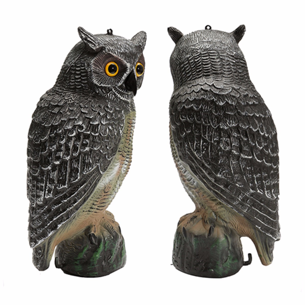 40x19x18cm Outdoor Hunting Large Realistic Owl Decoy Straight Head Pest Control Crow Fake Garden Yards Scarer Scarecrow Pest