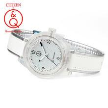 Citizen q & relógio masculino definir marca de luxo a prova
