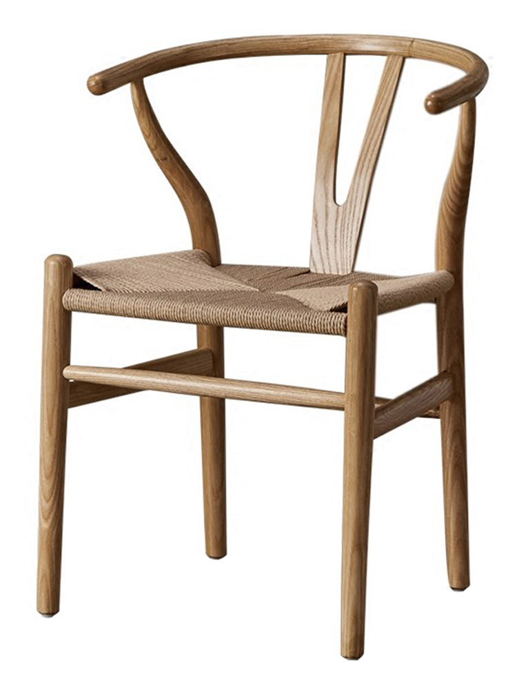 Nordic Solid Wood Chair Home Book Chair Back Computer Chair American Simple Office Chair Solid Wood Dining Chair Coffee Chair
