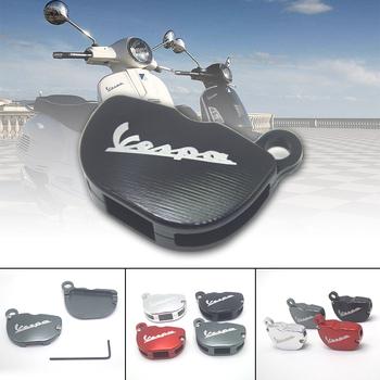 Z kluczem i motocyklem ochraniacz na drążek skrzyni biegów pokrywa dekoracyjna dla Piaggio Vespa Piaggio GTS SPRINT PRIMAVERA 150 300 125 GTS300 GTS125 tanie i dobre opinie OLPAY 1inch Zamki i zatrzaski 0 1kg