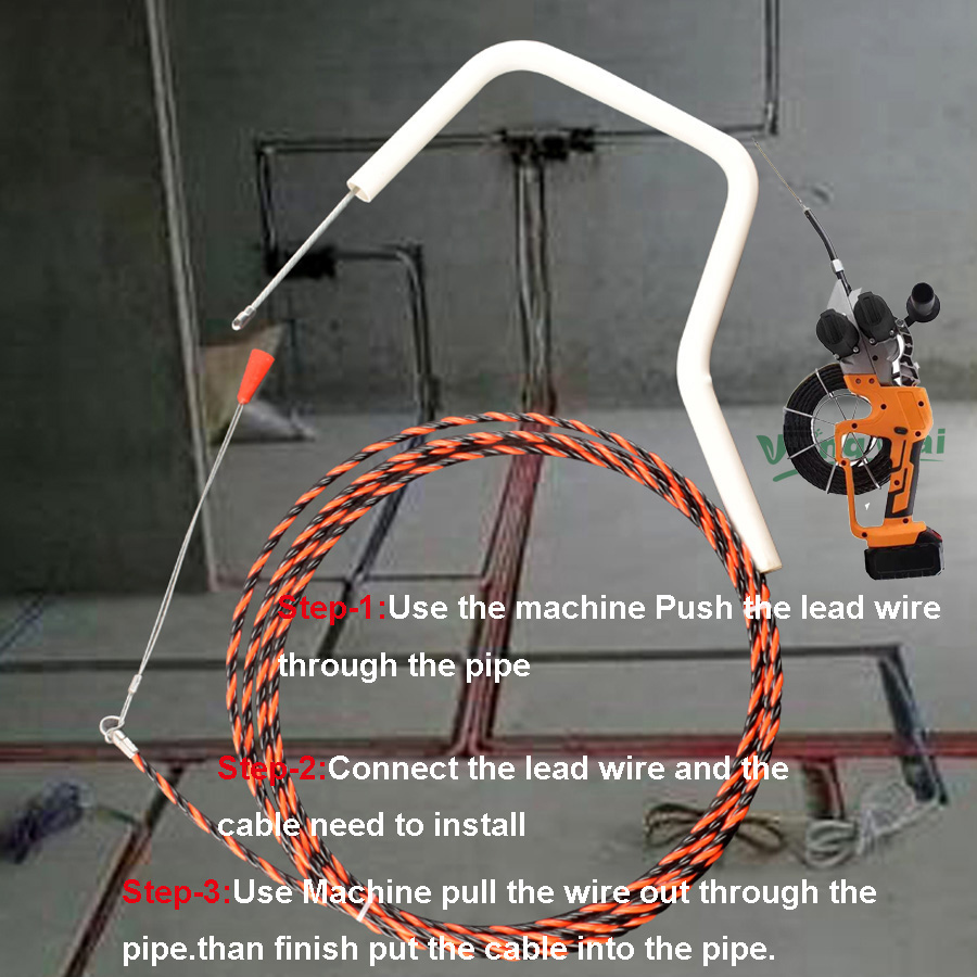 H7508f35a689c452da640c50ac2a9f76ez - Two Brushless Motor Samsung Li Battery Electric Wire Cable Leading Machine Artifact Wire For Electrician Cable Install