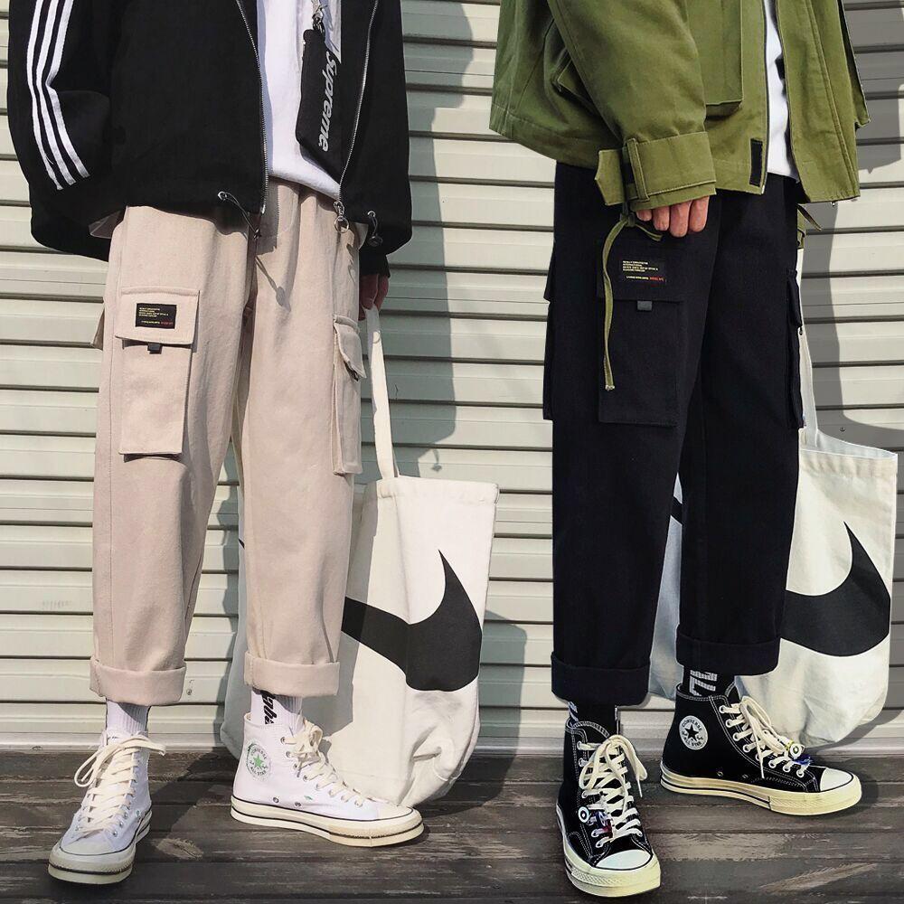 Men Multi-pocket Harem Pants Trousers Men Streetwear Punk Cargo Pant Hip Hop Casual Trousers Joggers Hombre XXXL 3XL
