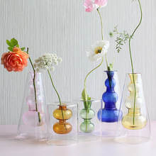 Nordic Modern Ins Style Creative Hydroponic Transparent Glass Vase Living Dining Room Desktop Decor Personalized Art Ornament