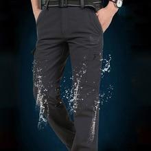 Pantalones tácticos de estilo militar para hombre, pantalón fino, trabajo de carga, transpirables, impermeables, de secado rápido, informales, para verano
