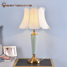 Buy 2 Get 15 Off American Style Green Ceramic Table Lamps For Bedroom Living Room Desk